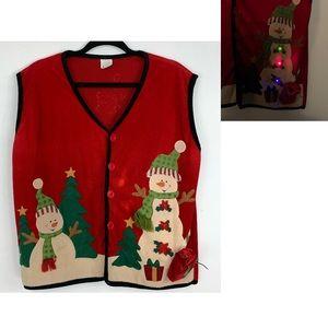 CHRISTMAS light~up festive vest